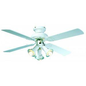 FARELEK - ventilateur de plafond ø 107 cm, 4 pales laquées b - Ventilatore Da Soffitto