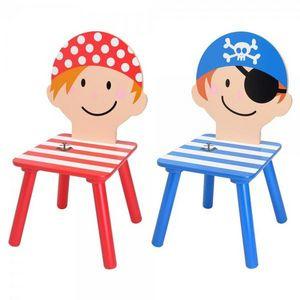 La Chaise Longue - set de 2 chaises enfant pirate - Sedia Bambino