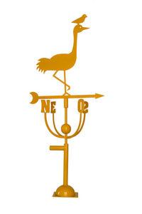 Aubry-Gaspard - girouette design héron jaune - Banderuola Segnavento