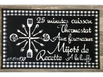 Fomax - tapis de cuisine fantaisie - couleur - noir - Tappetino Per Lavello