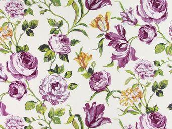 Le Quartier des Tissus - tissu imprime portia cassis et geranium tissus imp - Tessuto Stampato