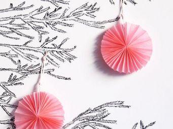 MY LITTLE DAY - 4 mini rosaces roses - Decorazione Per Albero Di Natale
