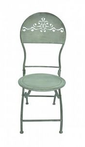 Demeure et Jardin - chaise patine zinc - Sedia Da Giardino