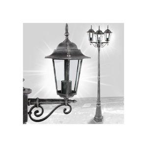 WHITE LABEL - lampadaire de jardin éclairage extérieur - Lampione Da Giardino