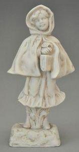 Demeure et Jardin - biscuit fillette - Figurina