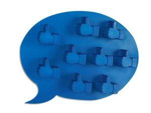 WHITE LABEL - bac à glaçons en forme de j'aime facebook like o - Secchiello Ghiaccio