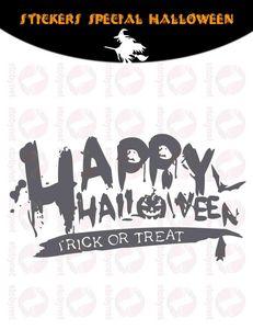 WHITE LABEL - sticker happy halloween - Sticker