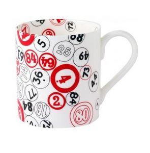 VINTAGE PLAYING CARDS - bingo mug - Tazza