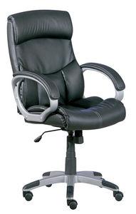 WHITE LABEL - fauteuil de bureau ergonomique coloris noir design - Poltrona Ufficio