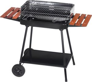 Dalper - barbecue sur roulettes avec tablettes bois - Barbecue A Carbone