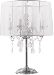 KOKOON DESIGN - lampe à poser avec abat-jour en tissu blanc diamon - Lampada Da Tavolo