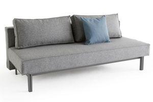 INNOVATION - innovation canape lit design sly gris granite con - Divano Letto Clic Clac (apertura A Libro)