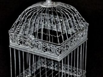 Demeure et Jardin - belle cage patine grise - Gabbia Per Uccelli
