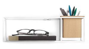 Umbra - etagère design en métal blanc cubist - Mensola