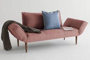 WHITE LABEL - innovation living canape lit design zeal rouge sof - Divano Letto Clic Clac (apertura A Libro)