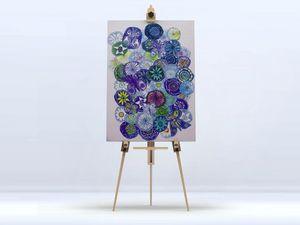 la Magie dans l'Image - toile jardin bleu - Stampa Digitale Su Tela