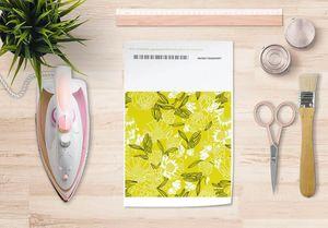 la Magie dans l'Image - papier transfert pivoines moutarde - Trasferibile