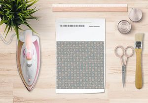 la Magie dans l'Image - papier transfert trefle vert-de-gris beige - Trasferibile