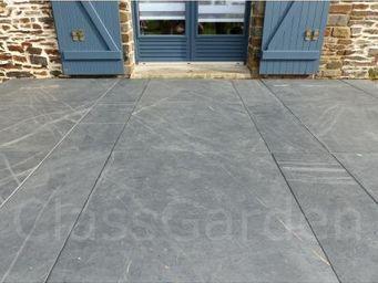 CLASSGARDEN - terrasse de 20 m² en dalle sciée de 100x30 - Lastra Per Pavimentazione Esterna