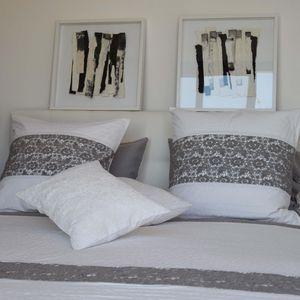 MAISON D'ETE - dessus de lit nantes blanc et gris - Copriletto