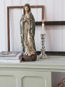 CHIC ANTIQUE - vierge colorée - Statuetta