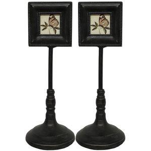 CHEMIN DE CAMPAGNE - 2 cadres-photo portes-photo sur pied à poser fer 2 - Cornice Portafoto