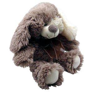 Aubry-Gaspard - peluche chien en acrylique gris - Peluche