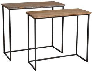 Aubry-Gaspard - consoles en bois et métal (lot de 2) - Consolle