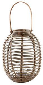 Aubry-Gaspard - lanterne en rotin et verre taille 3 - Lanterna Da Esterno