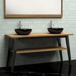 BOIS DESSUS BOIS DESSOUS - meuble de salle de bain en bois de teck 150 - Mobile Bagno
