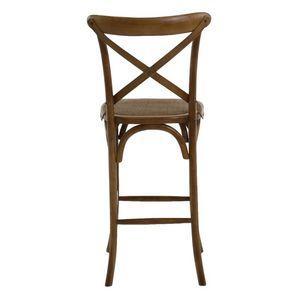 DECO PRIVE - chaise de bar dos croisé - Sgabello (sedia Alta)