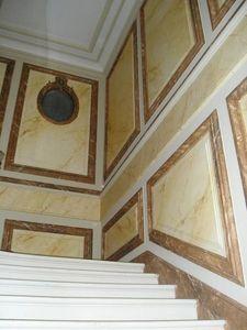 pique decor - cage d escalier faux marbre - Finto Marmo
