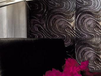 Christophe Fey Concept - cuir imprime motif «pop» - Rivestimento Quadrato In Cuoio