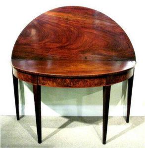 ERNEST JOHNSON ANTIQUES - table console demi-lune george iii - Tavolo Consolle