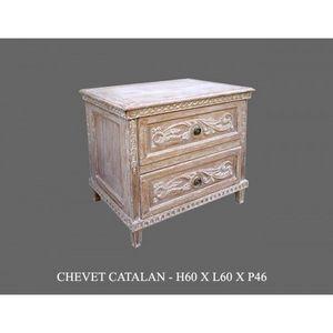 DECO PRIVE - chevet en bois ceruse modele catalane deco prive - Comò / Cassettone