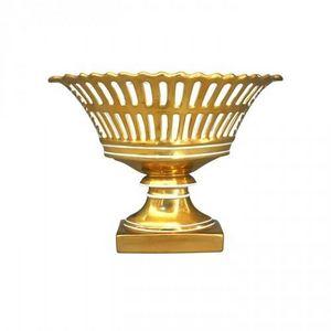 Demeure et Jardin - coupe de style empire dorée - Coppa Decorativa