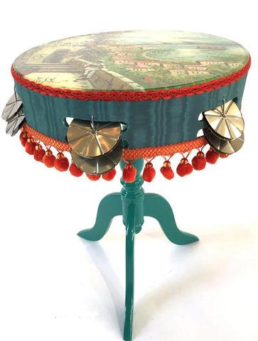 RELOADED DESIGN - Tavolino rotondo-RELOADED DESIGN-Mini Table Verso Sud Tarantella Swing  - Small